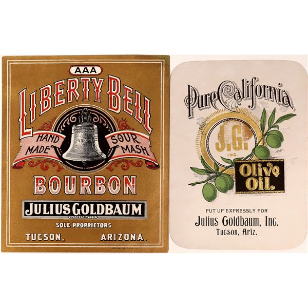 Whiskey & Olive Oil Labels from Julius Goldbaum  [137351]