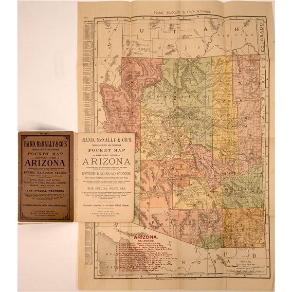 Rand McNally Pocket Map and Shippers' Guide of Arizona   [137574]