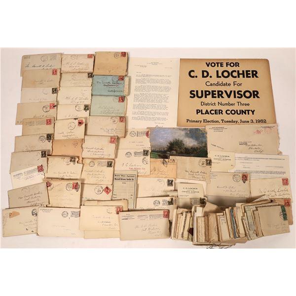 Locher Personal Correspondence, Auburn Ca, c1895-1908   [137648]