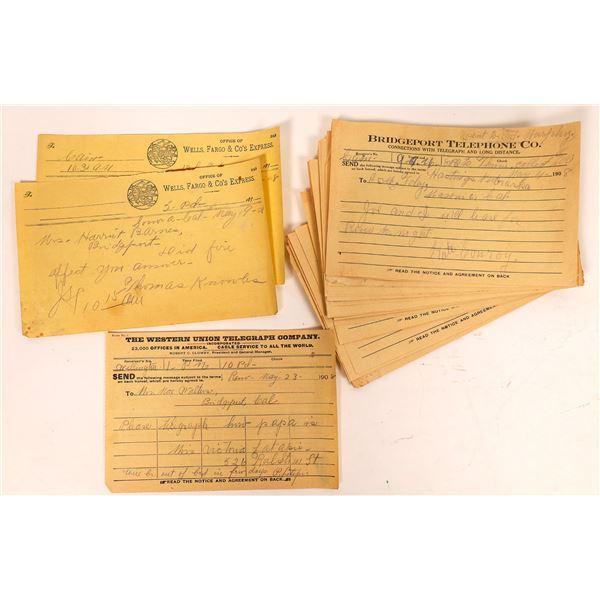 Bridgeport Telephone Co. Telegraph Message Collection  [132630]