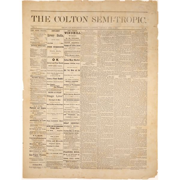 Old Colton California Newspaper Section  [136027]