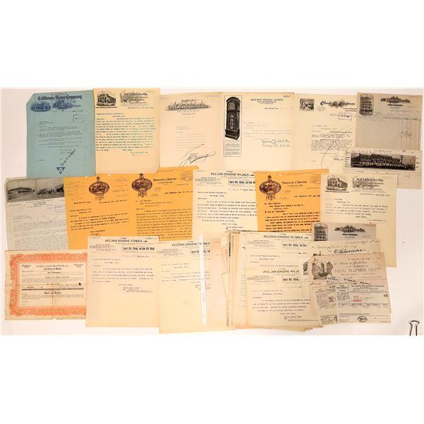 Los Angeles Letterheads & Billheads (Many Pictorial)  [135262]