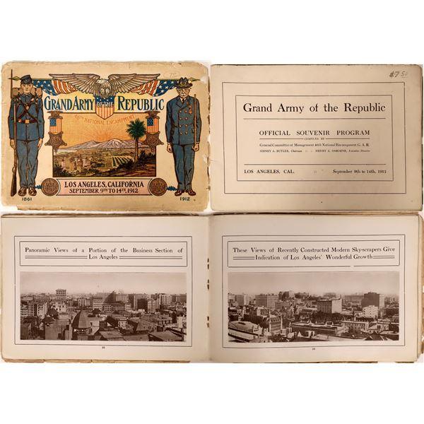 Grand Army of the Republic (GAR) Los Angeles 1912 Souvenir Program  [135822]