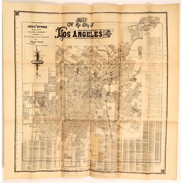 Los Angeles City Map  [135297]