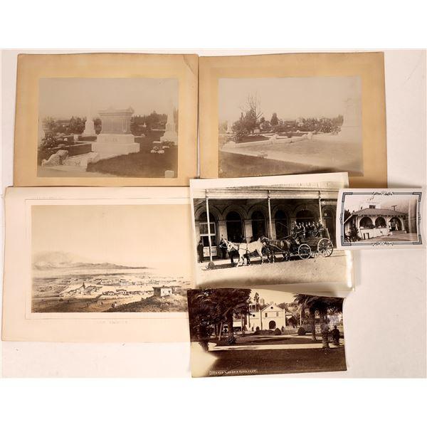 Los Angeles Photographs Plus an 1850s Lithograph  [135203]