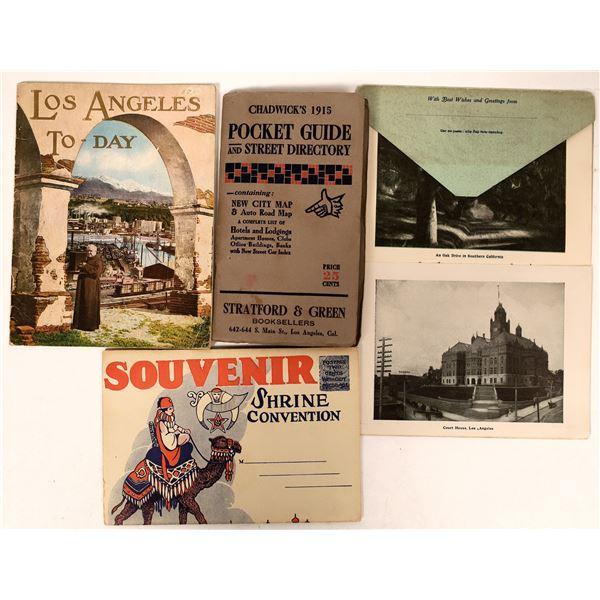 Los Angeles Pocket Map, Guide, & Souvenir Folders  [135819]