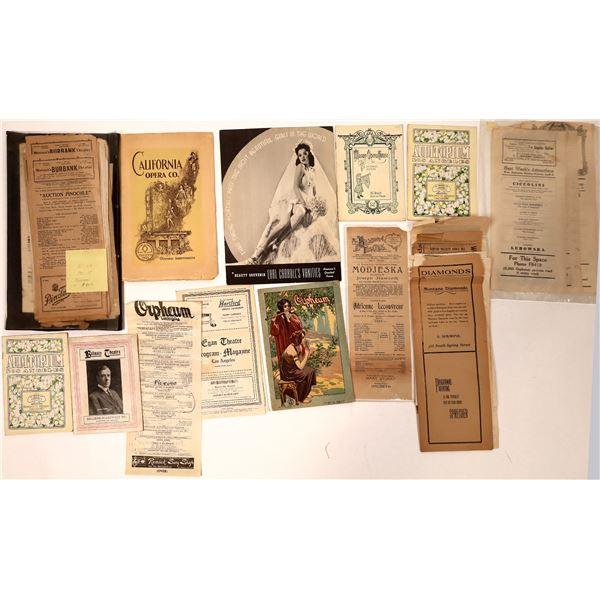 Los Angeles Theatre Ephemera & Playbills  [135811]