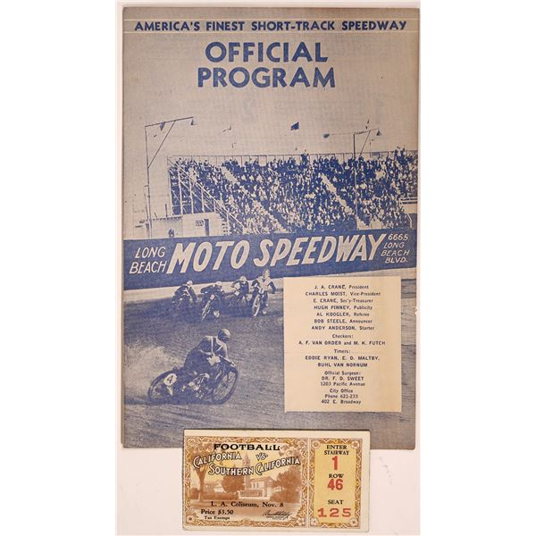 Very Early USC Football Game at the Coliseum plus bonus 1934 Motocross  [135053]