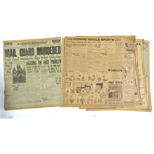 Evening Herald Print Articles incl. Death of Bat Masterson  [136839]
