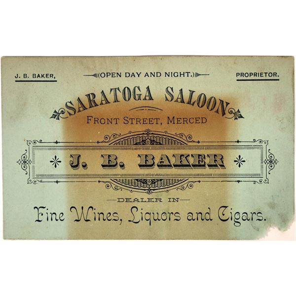 Saratoga Saloon Business Card  [135185]