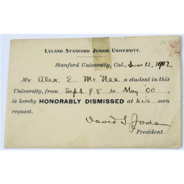 Stanford University Dismissal Slip  [137054]