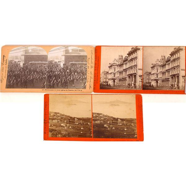 Three Different San Francisco Stereoviews  [134182]