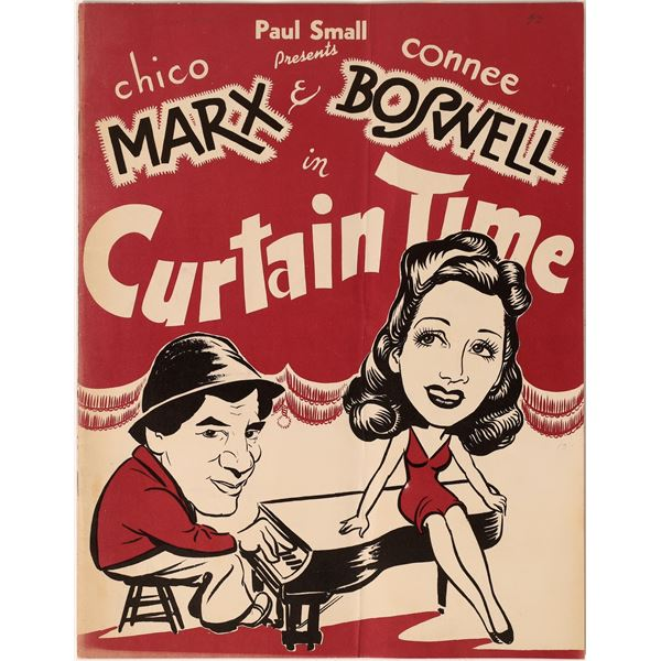 Chico Marx & Connee Boswell 1943 Theatre Program  [136008]