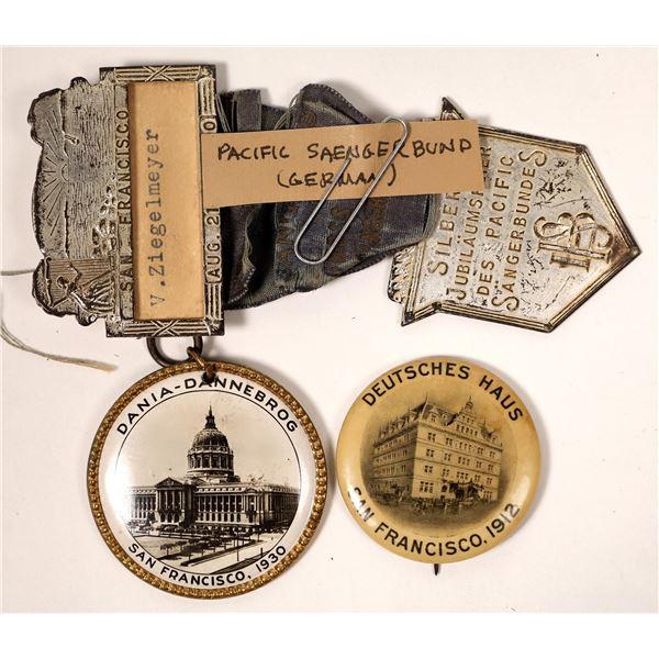 Vintage San Francisco Buttons  [135952]