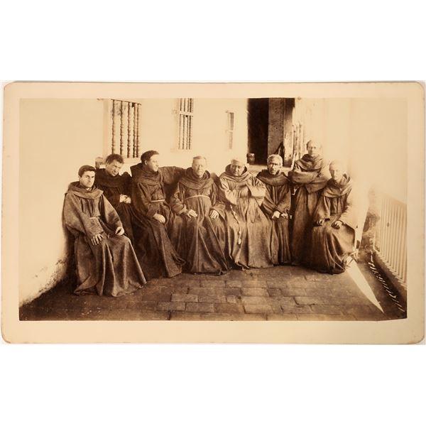 Monks at Santa Barbara Cabinet Card  [135258]