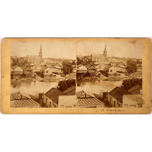 Early Stockton, California Stereoview  [135814]