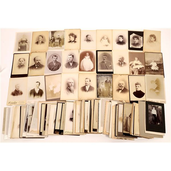 California Cabinet Card Portrait Collection (No San Francisco) (Approx 135 Cards)  [137541]