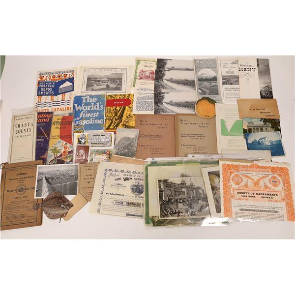 California Ephemera Collection  [135117]