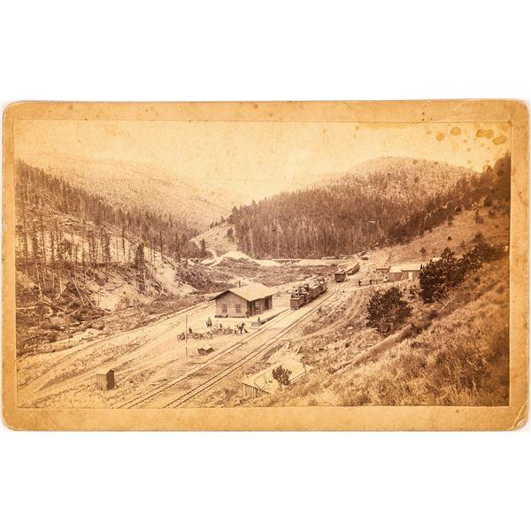Boudoir Photograph of Train at Penn Gulch, Colorado  [134203]
