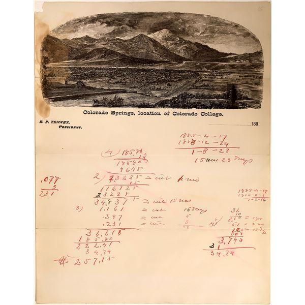 Pictorial Letterhead of Colorado Springs  [132606]