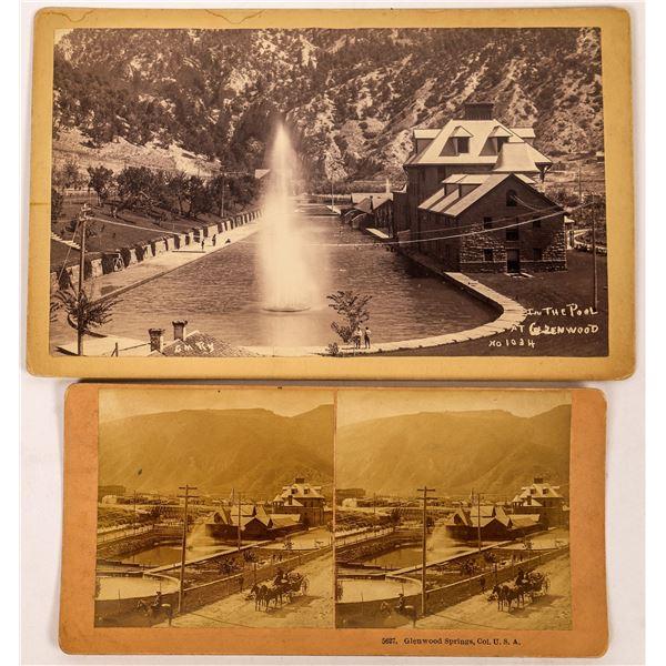 Glenwood Springs Resort Stereoview & Boudoir Photograph  [134200]