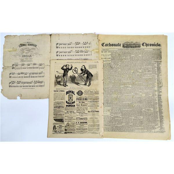 Leadville Ephemera: Newspapers and Sheet Music  [136029]