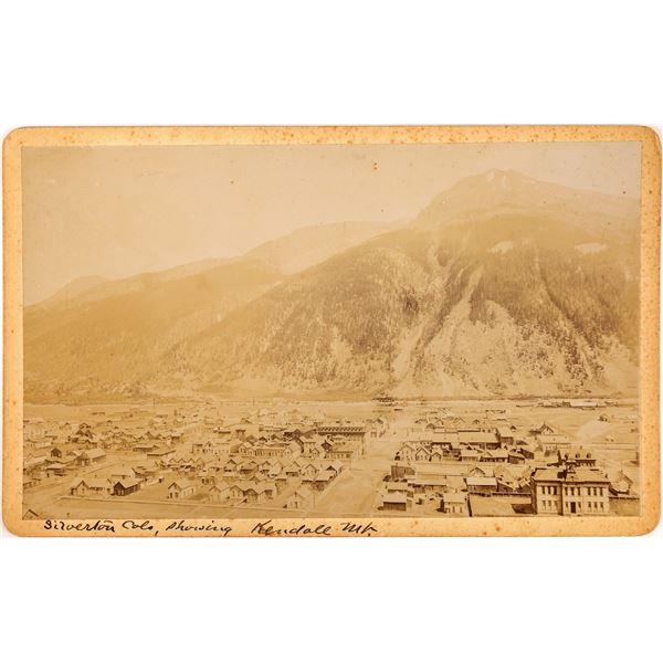 Birds-Eye View Mounted Photograph of Silverton, Colorado  [134165]
