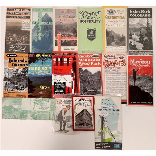 Vintage Colorado Travel Brochures  [135068]