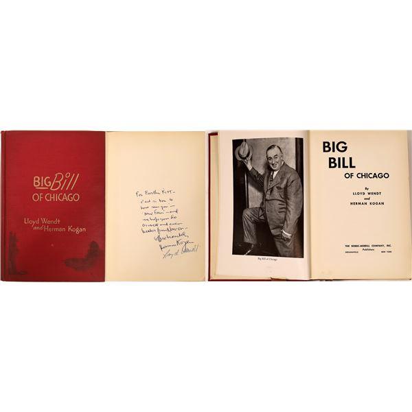 Author Autographed Chicago Mayor Bill Thompson 1st Edition Bio  [136782]