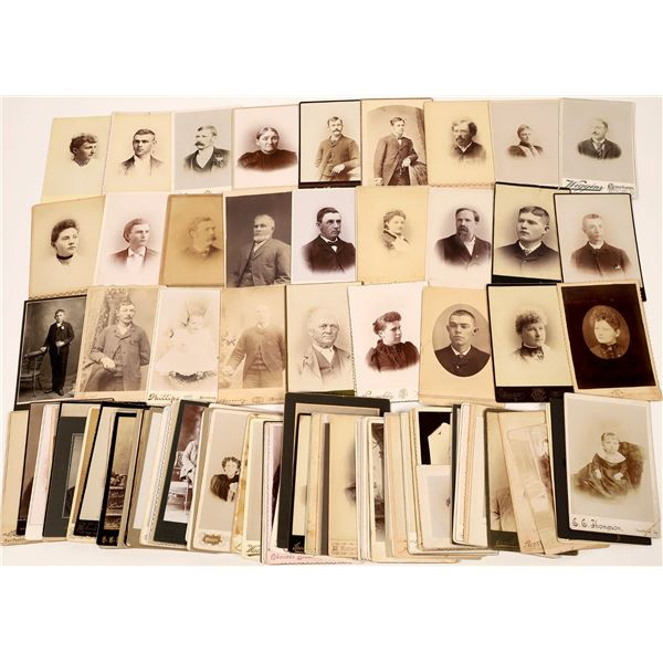 Iowa Cabinet Card Photograph Collection (112)  [133837]