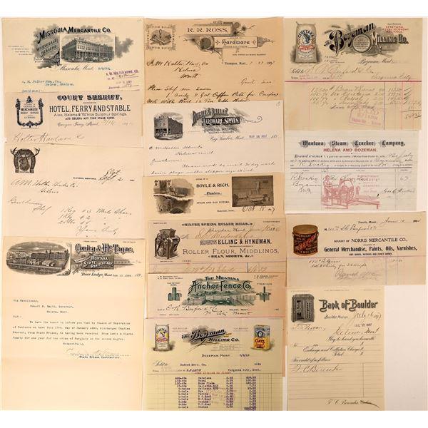 State of Montana Letterheads (7) & Billheads (7)  [137604]