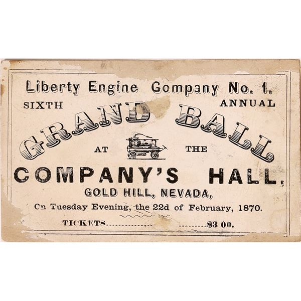 Gold Hill Fire Department Ticket to their Grand Ball  [132581]