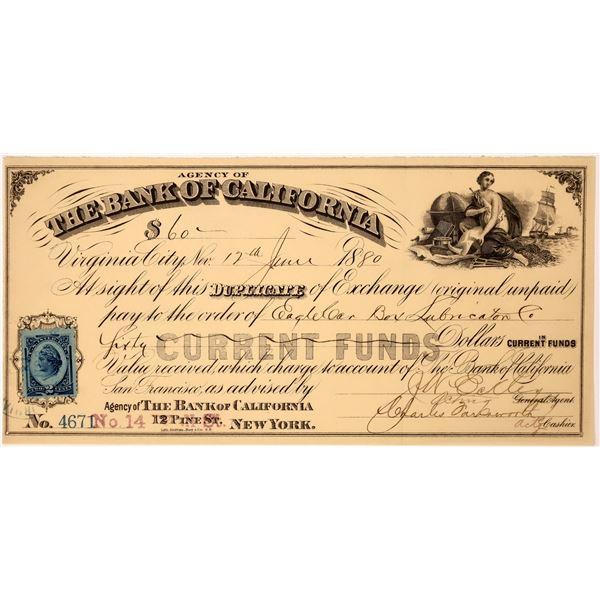 Bank of California Duplicate of Exchange  [137359]
