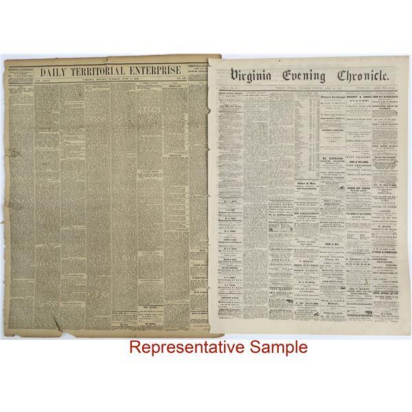 Virginia City Nevada Newspapers  [136831]