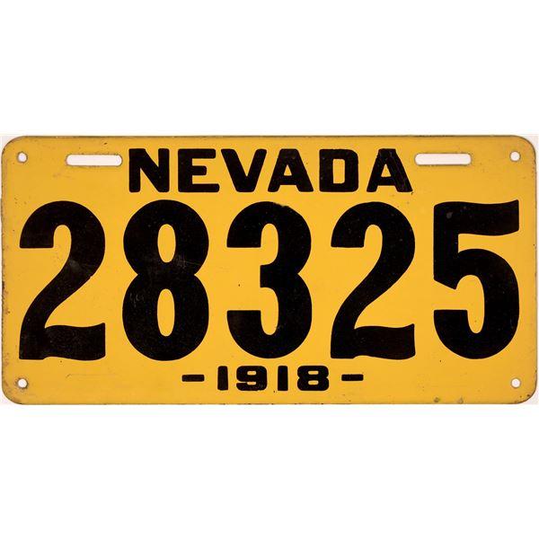 1918 Nevada License Plate  [132596]