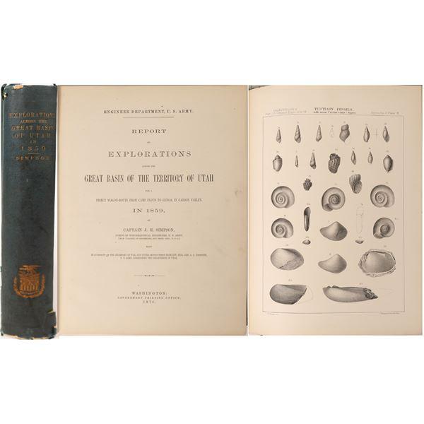 Explorations Across the Great Basin of Utah in 1859, Simpson  [130055]