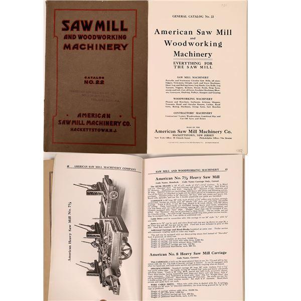 American Saw Mill Machinery Co. Catalog, Hackettstown, N.J., 1921  [137627]
