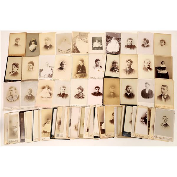 Ohio Cabinet Card Photograph Collection (78)  [133833]