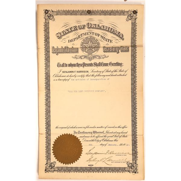 Oklahoma Territory Townsite Articles of Incorporation  [134171]