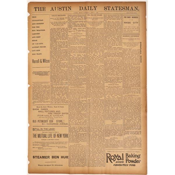 Austin Paper reports Bill Dalton's Demise  [136838]