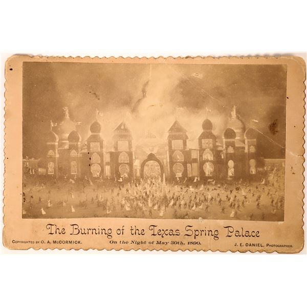 Texas Spring Palace Fire Cabinet Card  [135728]