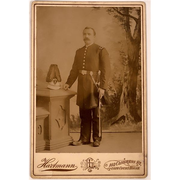 Cabinet Card of Man in Fraternal Uniform  [134174]