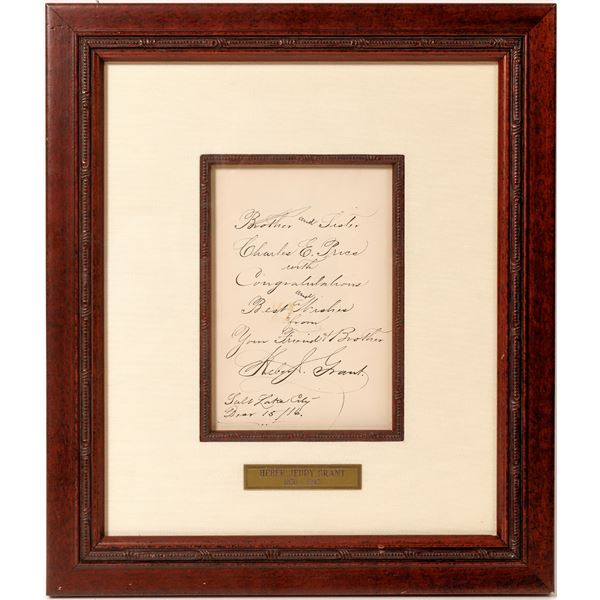 Framed Autographed Document of Mormon President Heber Jeddy Grant  [135875]