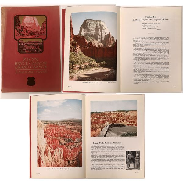 Zion/Bryce Canyon/Grand Canyon 1935 Travel Brochure  [132686]