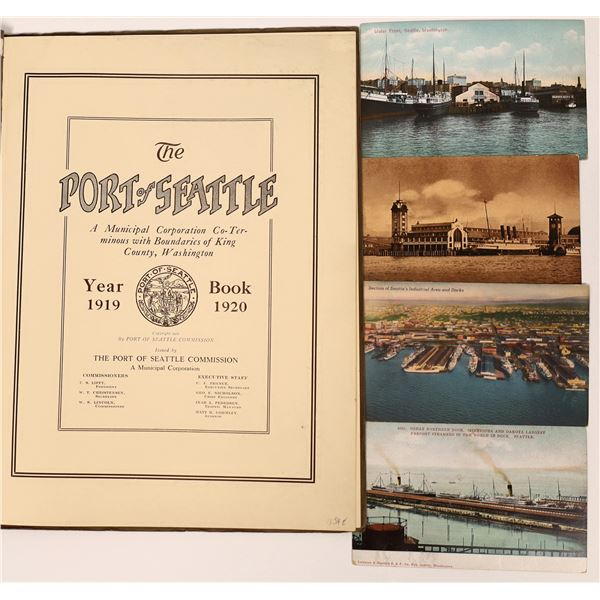 Port of Seattle Municipal Yearbook for 1918-1919 & Postcards  [137616]