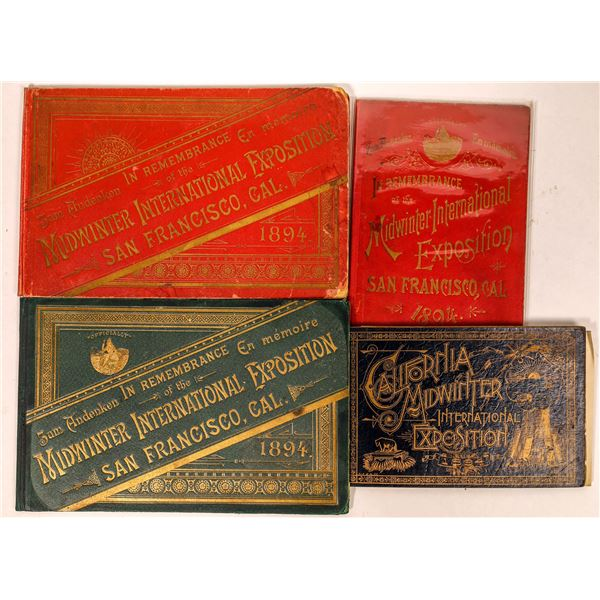Cal. Midwinter International Exposition Booklets (4)  [135206]