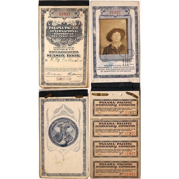 Panama-Pacific International Exposition Photo ID Ticket Book  [135290]