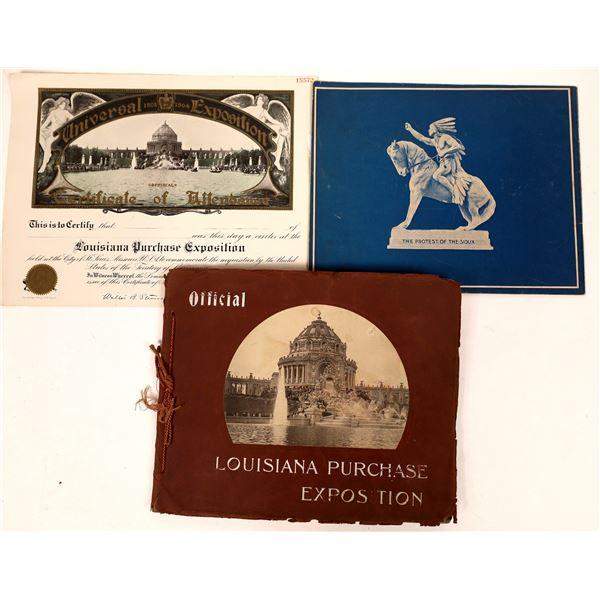 Louisiana Purchase Exposition Ephemera Group  [132925]