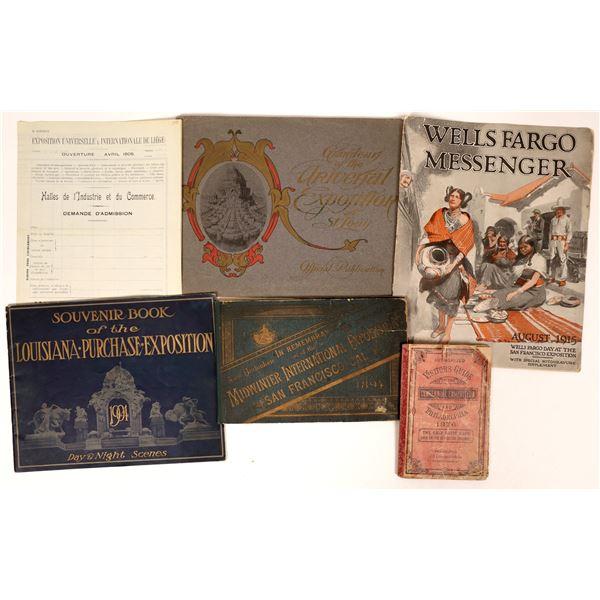 US Exposition & World's Fair Ephemera Collection  [132923]