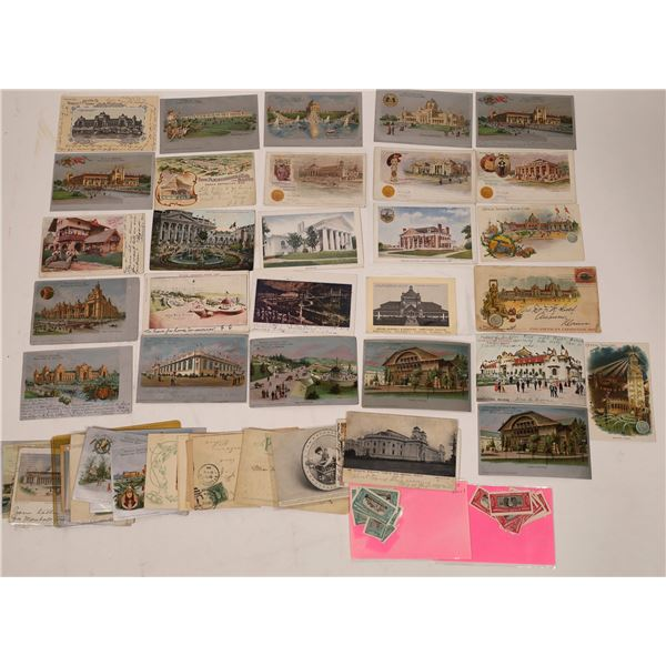 Early U.S. Exposition Postcards (About 47 cards)  [138099]
